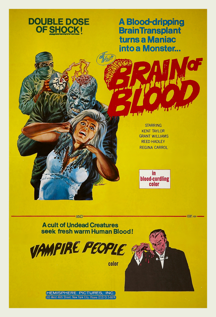 Brain of blood and vampire people
